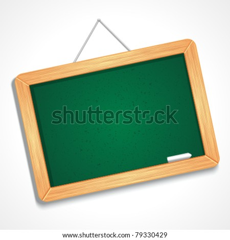 Class board with chalk vector background. Eps 10. - stock vector