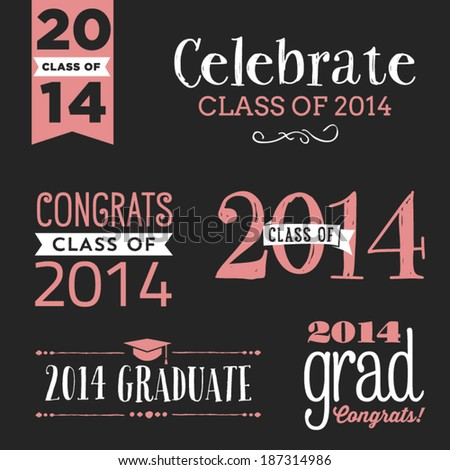 Graduating Class Of 2014 Backgrounds Class of 2014 Vector Set