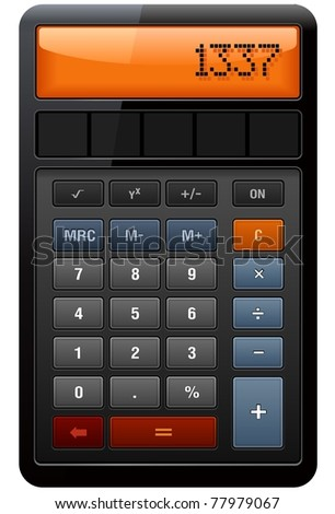 Classic Accounting Calculator detailed vector - stock vector