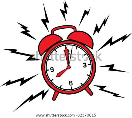 Classic alarm clock - stock vector