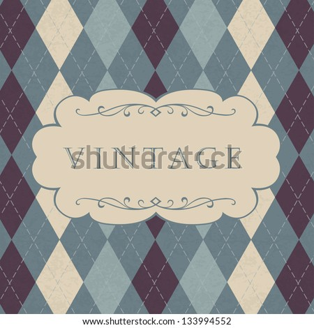 Classic argyle pattern with space for text. Vector, EPS10 - stock vector