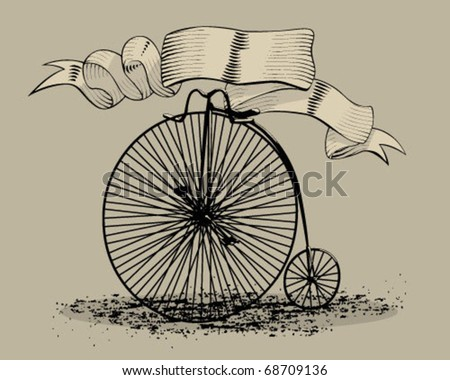 Classic bicycle. - stock vector