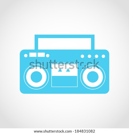 Classic Boombox Icon Isolated on White Background - stock vector