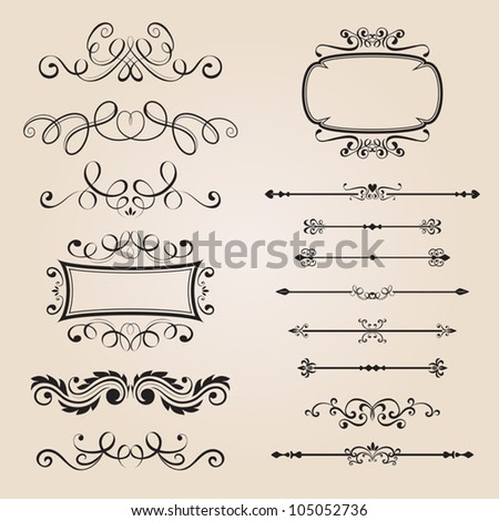 Classic Border Ornament - stock vector