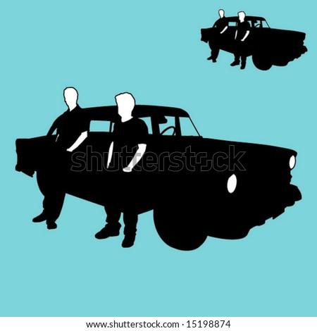 classic car - stock vector