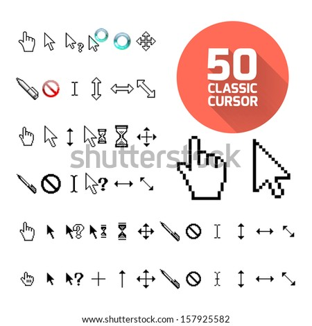 Classic cursor pack. Vector illustration for design - stock vector