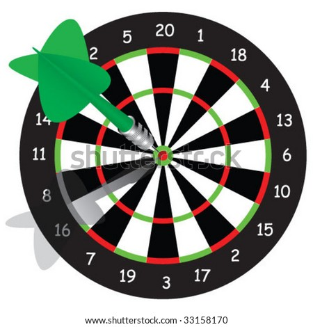classic darts - stock vector