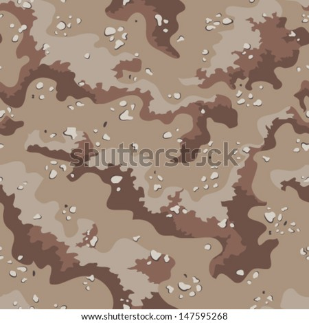 Classic Desert Camo Pattern Seamless Repeatable Vector Camouflage