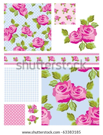 Classic design Elements for scrap booking, greeting cards, wallpaper, textiles, stencils all patterns are repeat. - stock vector