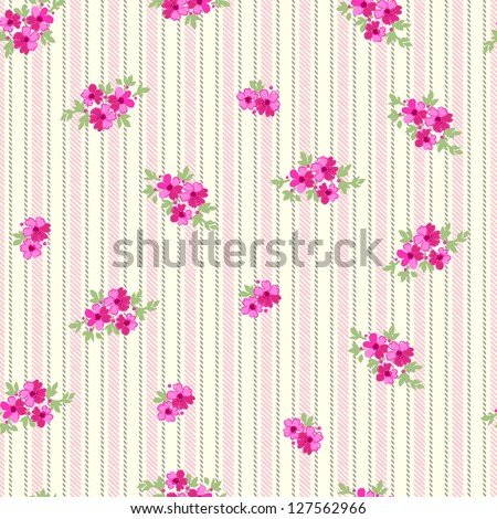 classic ditsy floral seamless background - stock vector