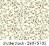 Classic ditsy flowers - seamless - stock vector