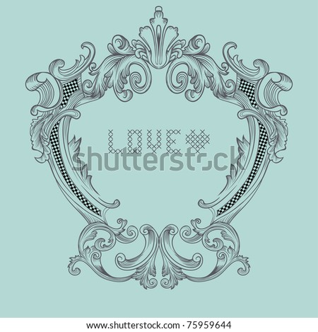 classic frame - editable - blank and you may type in description u need into it - stock vector