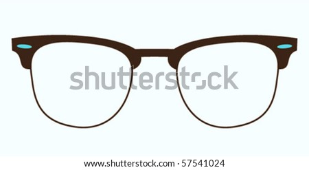 classic glasses clubmaster from 60s - stock vector