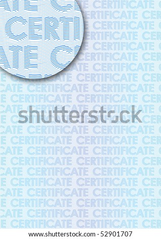 Classic guilloche background like those seen on diplomas, stock certificates, etc. - stock vector
