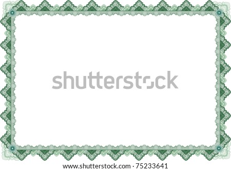 Classic guilloche border for diploma or certificate  / vector/ A4 horizontal / CMYK color /  Layers are separated! Editing is easy - stock vector