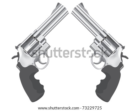 classic gun colt - realistic illustration - stock vector