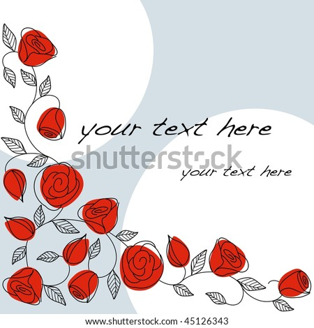 Classic hand drawn background with roses (EPS10); a JPG version is also available
