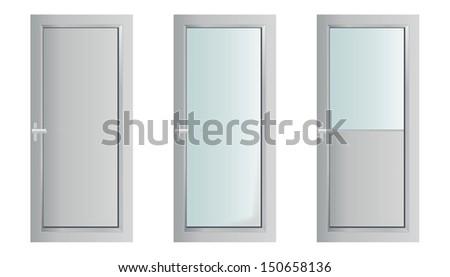 Classic interior wooden doors - realistic vector illustration - eps10 - stock vector