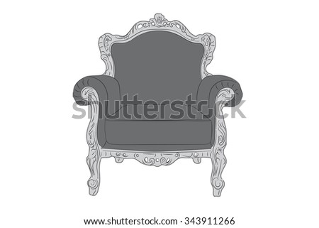 classic luxurious comfortable chair at home