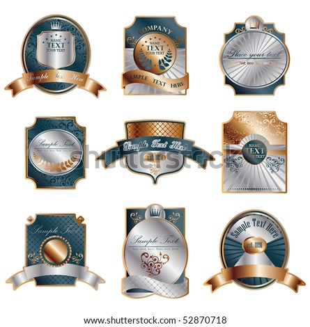 Classic luxury awards - stock vector
