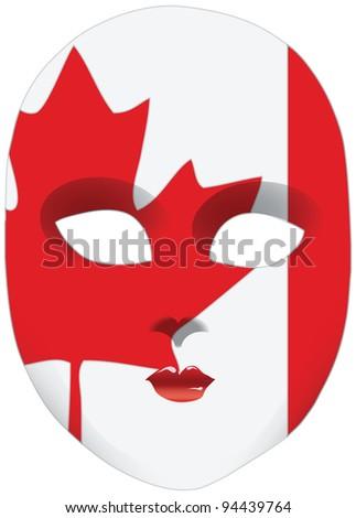 Classic Mask Symbols Statehood Canada Vector Stock Vector 2018