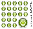 Classic media player buttons icon set. - stock photo
