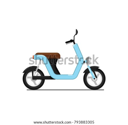 classic moped isolated on white icon stock vector royalty free