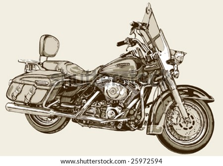 classic motorcycle - stock vector
