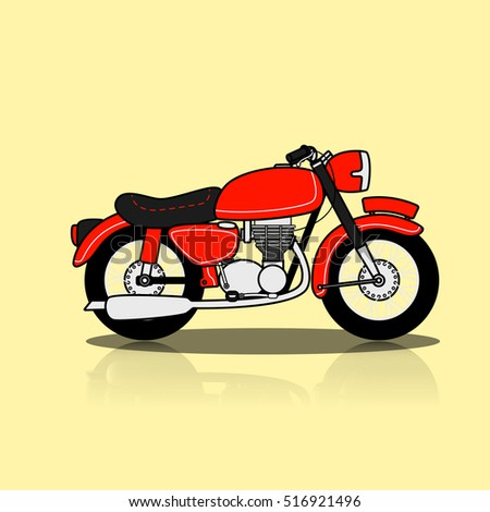 Classic Motorcycle Vector Design