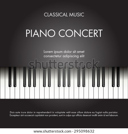 Classic Music Piano Background Poster Web Stock Vector 295098632