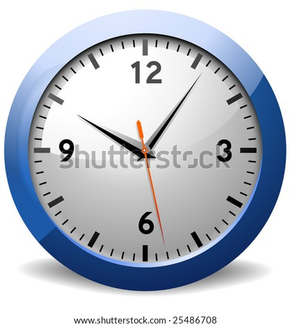 Classic Office Clock - stock vector