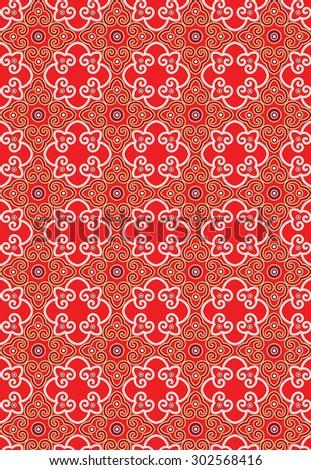 Classic Oriental Pattern (vector) - stock vector