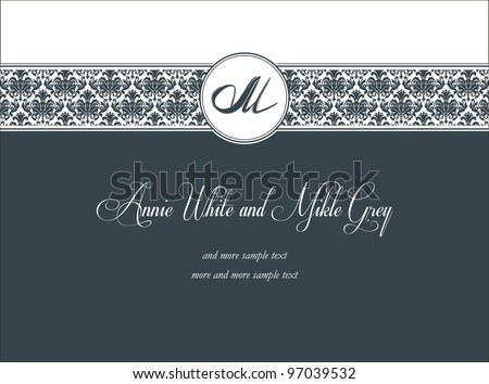 Classic ornamental invitation - stock vector