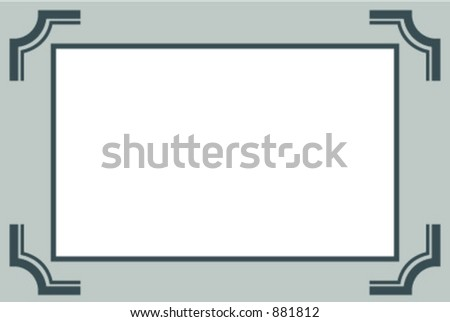 Classic photo frame - stock vector