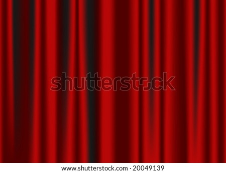 classic red curtain vector image