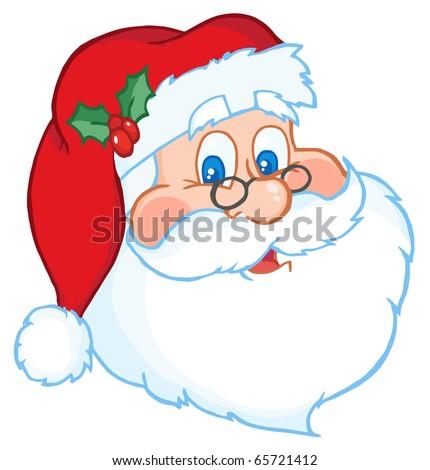 Classic Santa Claus Head - stock vector