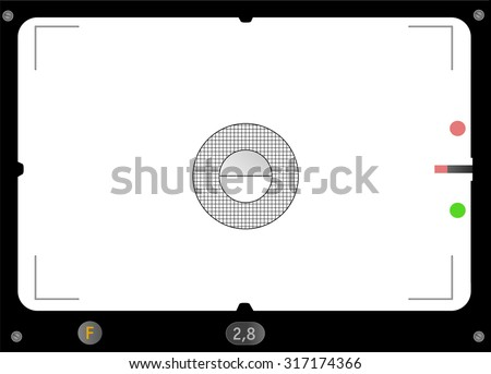 Classic SLR viewfinder, with free space for your pics, fictional artwork, vector - stock vector