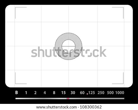Classic SLR viewfinder, with free space for your pics, vector - stock vector