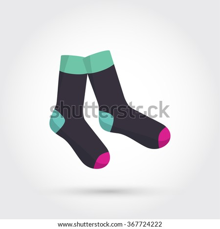 Classic socks - stock vector