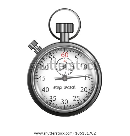 Classic stopwatch illustration
