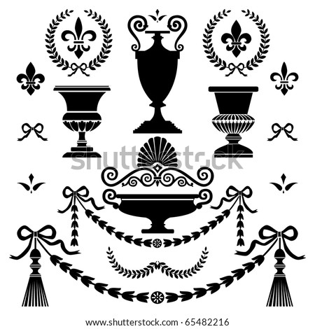 Classic style design elements - stock vector