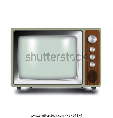 Classic TV in vector illustration - stock vector