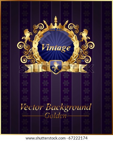 Classic vintage background,vector - stock vector