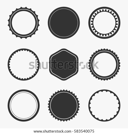 Classic Vintage Badges Set Isolated On Stock Vector 583540075