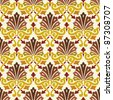 classic vintage seamless pattern in editable vector file - stock vector