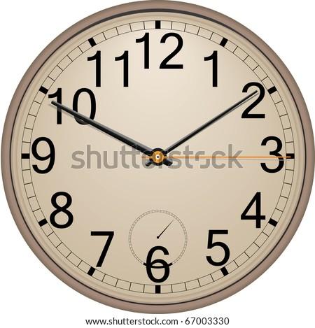 Classic wall clock. Vector. Eps 10 . - stock vector