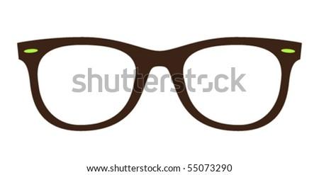 classic wayfarer sunglasses - stock vector