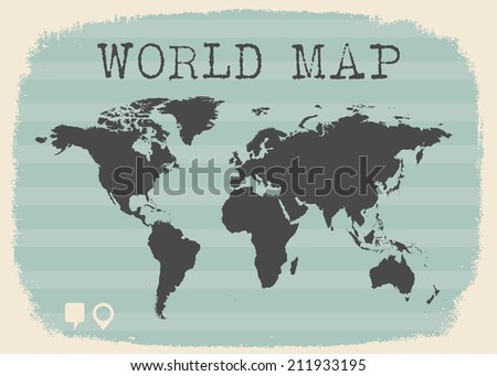 Classic world map illustration vector format stock vector 211933195 classic world map illustration in vector format gumiabroncs Gallery