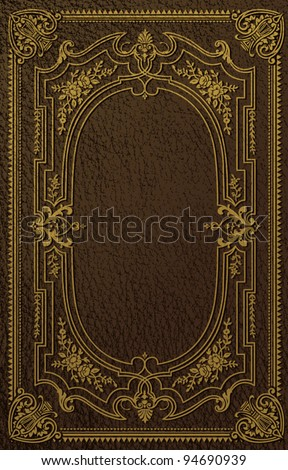 Classical Book Cover - stock vector