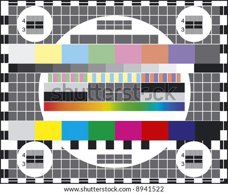 Classical colors TV test - stock vector